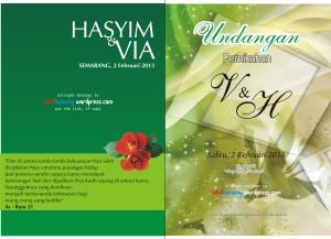 undangan pernikahan depan